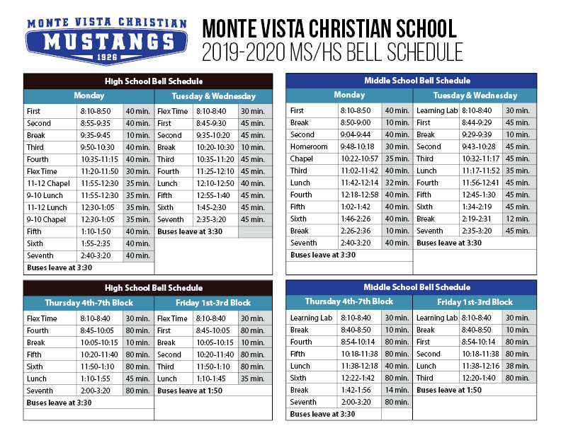 Middle School - Monte Vista Christian School