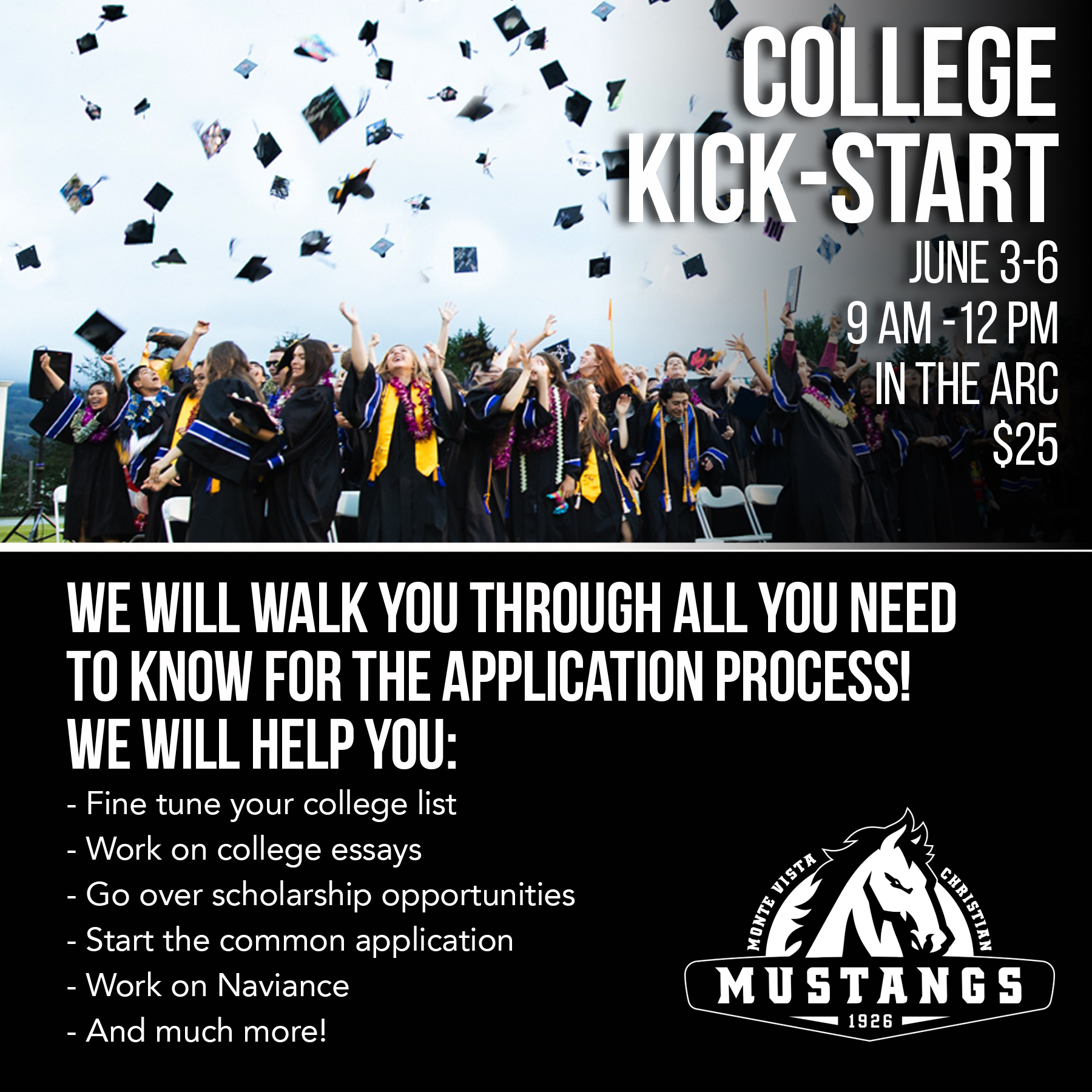 040eaf2051d951 ... the rising Senior Class of 2020 from 9 00 am - 12 00 pm on Monday